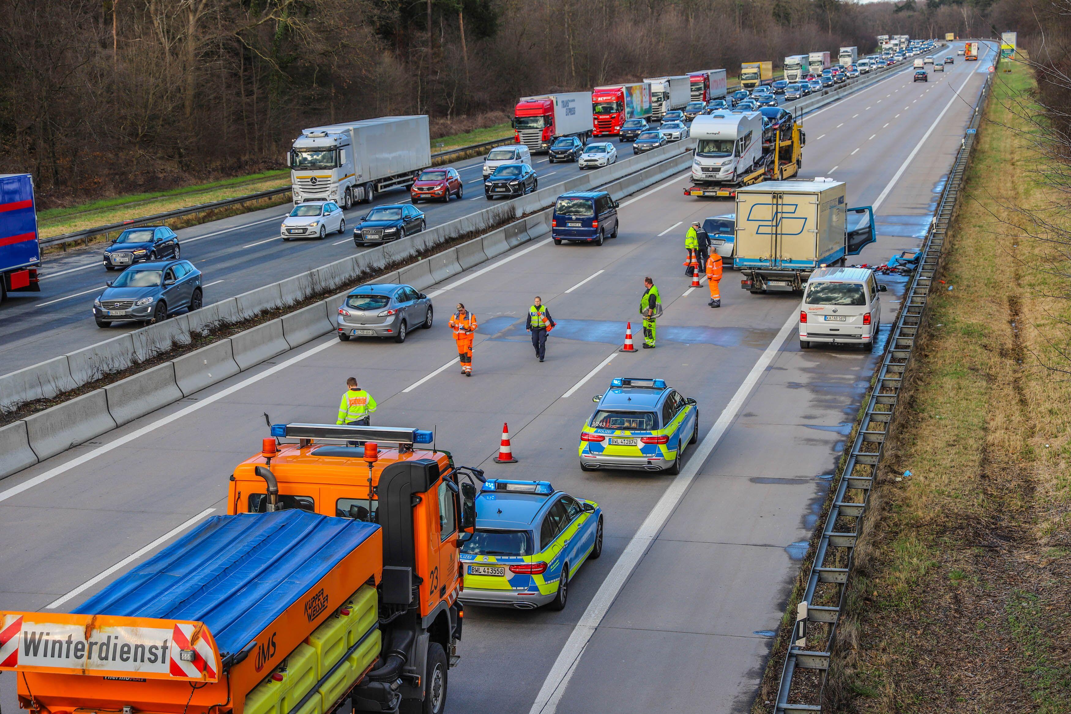 Verkehr A5 Karlsruhe