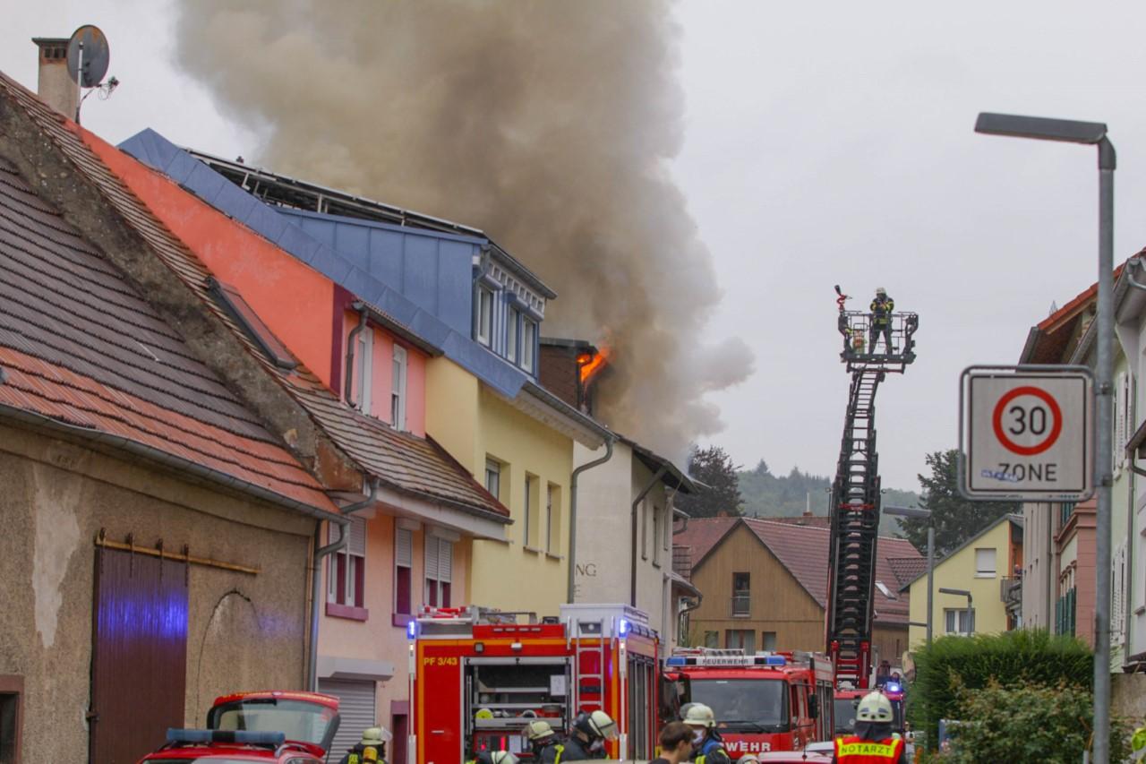 Feuer In Karlsruhe