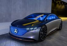 Die neue Mercedes eqs Limousine mit Leds