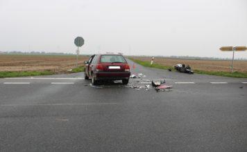 Schlimmer Unfall mit Motorradfahrer - Vorfahrt genommen