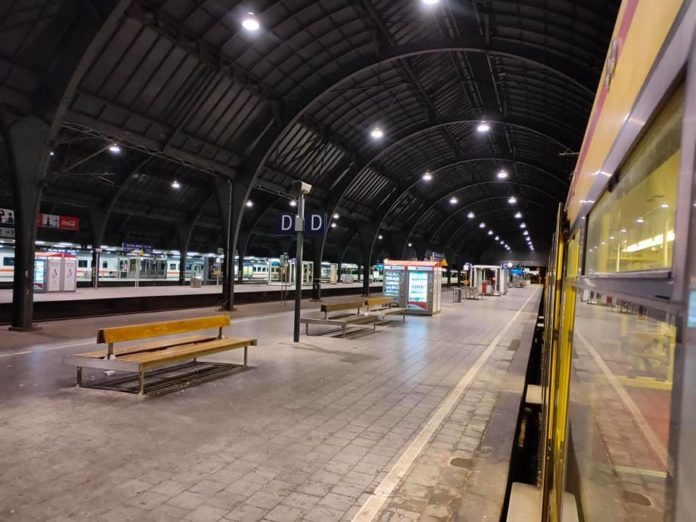 Gleise am Hauptbahnhof in Karlsruhe