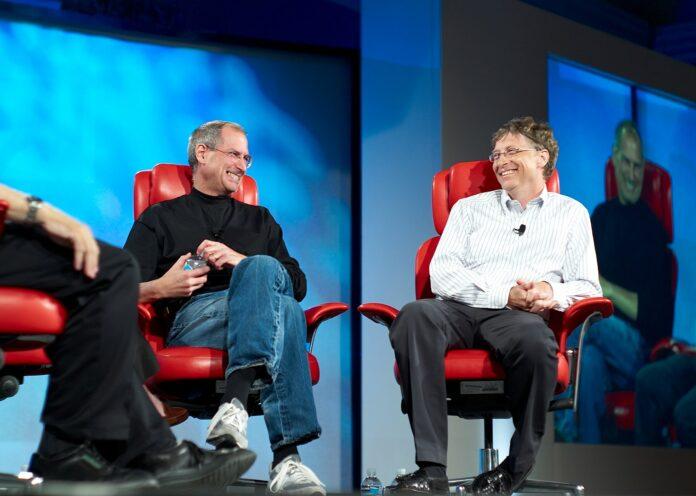 Bill Gates mit Steve Jobs