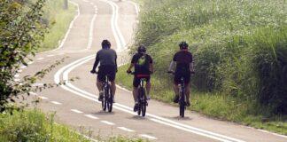 Radfahrer auf Tour
