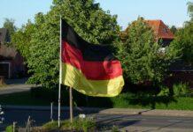 Deutschland Fahne zur Fußball Europameisterschaft