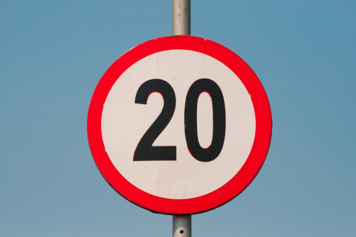 Tempo 20 Verkehrsschild