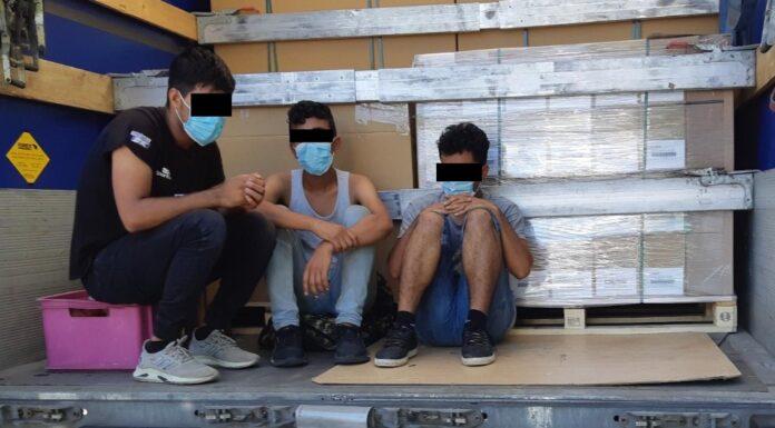 Flüchtlinge im Lkw entdeckt