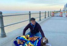 Hund letztes Mal am Strand