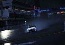 Wasserstoff Auto von Toyota bei einem rennen