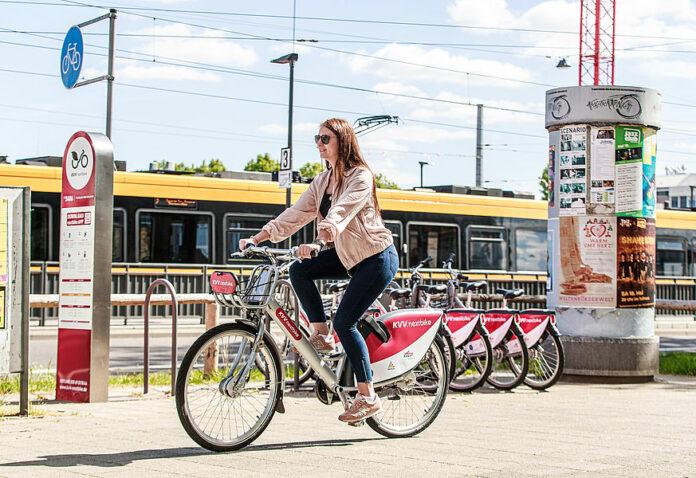 Ausleih-Fahrräder in Karlsruhe