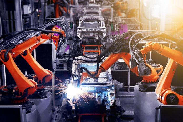 Daimler Roboter Produktion