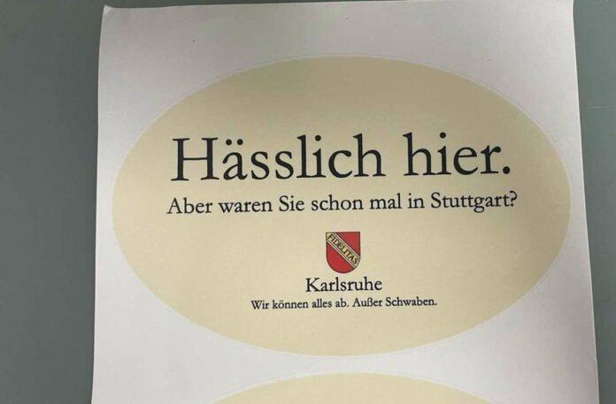 Sticker von Karlsruher gegen Stuttgart