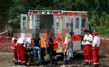 Rettungseinsatz mit Krankenwagen