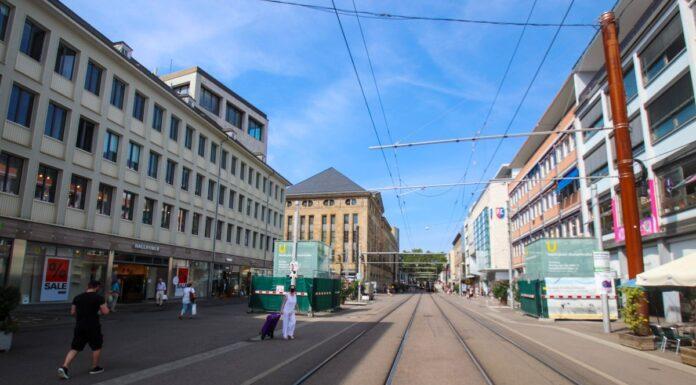 Geschäfte in der Karlsruher Innenstadt