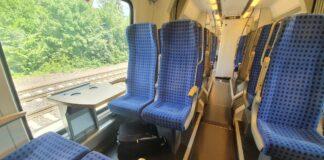 Zugfahrt mit sitzen