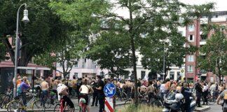 Demonstration in der Innenstadt