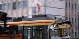 Straßenbahn Unfall in Karlsruhe