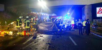 Horror-Unfall auf Autobahn