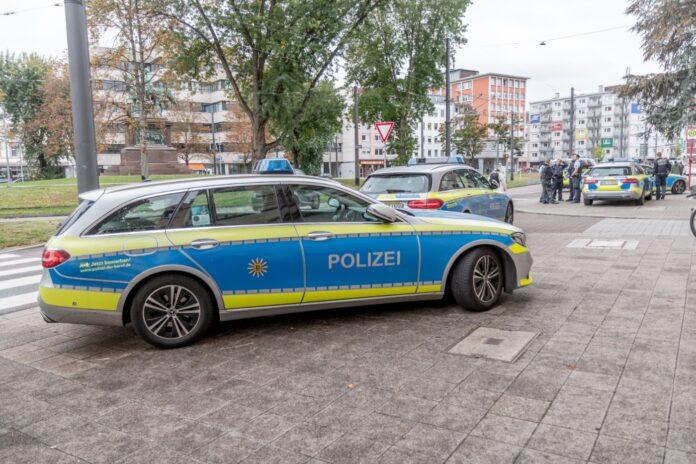 Polizei in der Karlsruher Innenstadt