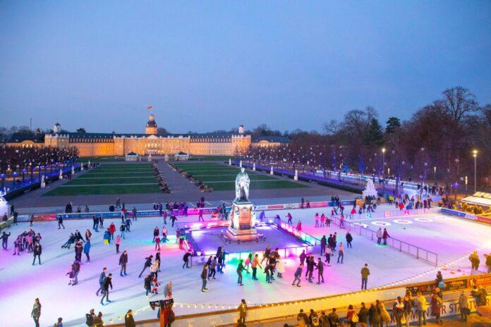 Die Eiszeit vorm Karlsruher Schloss