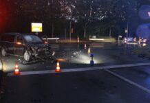 Unfall nachts auf Straße