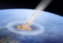 Asteroid Einschlag aus dem All