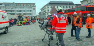 Großeinsatz am Marktplatz in Karlsruhe