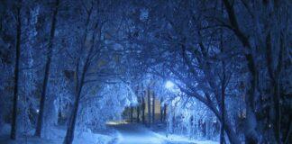Kälte nachts im Winter
